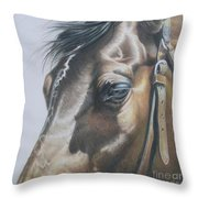 Buckles And Belts In Colored Pencil Throw Pillow