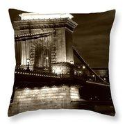 Budapest Nights Throw Pillow