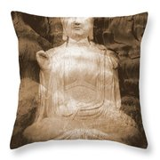 Buddha And Ancient Tree Throw Pillow