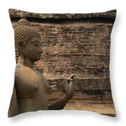 Buddha At Sukhothai 2 Throw Pillow