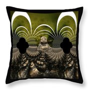 Buddha Fractal Throw Pillow