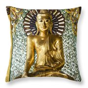 Buddha In Glass Throw Pillow