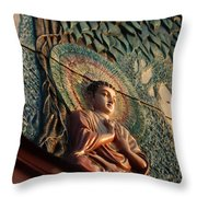 Buddha Relief Throw Pillow