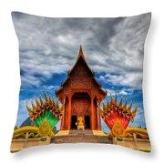 Buddha Temple Throw Pillow
