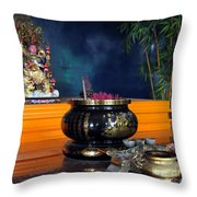 Buddhist Altar Throw Pillow