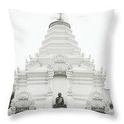 Buddhist Chedi Throw Pillow