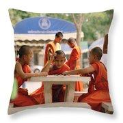 Buddhist Childhood Throw Pillow