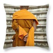 Buddhist Monk 2 Throw Pillow