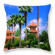Buddhist Temple Throw Pillow