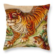 Buddhist Temple Decorations In Throw Pillow