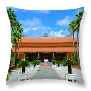 Buddhist Temple In Houston Throw Pillow