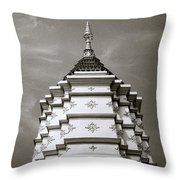 Buddhist Temple Wat Luang In Chiang Khong In Thailand Throw Pillow