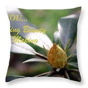 Budding Beauty Throw Pillow