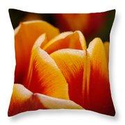 Budding Flower Throw Pillow