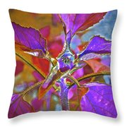 Budding Pink Throw Pillow