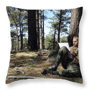 Buds Candidate Plots Coordinates Throw Pillow