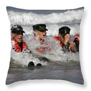 Buds Students Participate In A Surf Throw Pillow