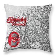 Budweis Czech Republic - 700 Years Of Brewing Tradition Throw Pillow