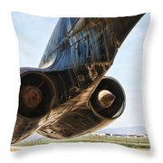 Buff Power Throw Pillow