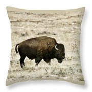 Buff Profile Throw Pillow