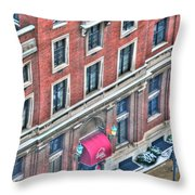 Buffalo Athletic Club Downtown Winter Throw Pillow