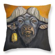 Buffalo Bells Throw Pillow
