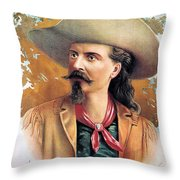 Buffalo Bill Cody, C1888 Throw Pillow