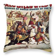 Buffalo Bill: Poster, 1899 Throw Pillow