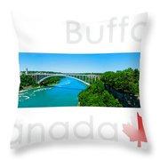 Buffalo Canada Throw Pillow