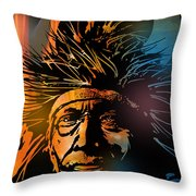 Buffalo Headdress Throw Pillow