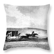 Buffalo Hunt, 1841 Throw Pillow