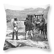 Buffalo Hunting, 1874 Throw Pillow