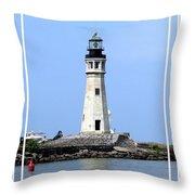 Buffalo Main Lighthouse Throw Pillow
