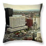 Buffalo New York Aerial View Throw Pillow