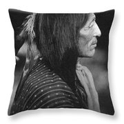Buffalo Nickel Portait. Throw Pillow