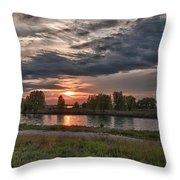 Buffalo Sunset 14390 Throw Pillow
