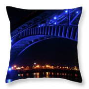 Buffalo Under The Bridge Throw Pillow