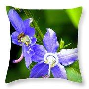Bug On Blue Throw Pillow