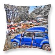 Bug Yard Throw Pillow