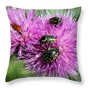 Bugfest Throw Pillow