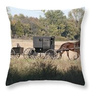 Buggy And Wagon Throw Pillow
