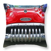 Buick With Teeth Throw Pillow