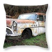 Buick Yard Throw Pillow by Steve McKinzie