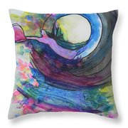 Building A Rainbow Throw Pillow by Chrisann Ellis