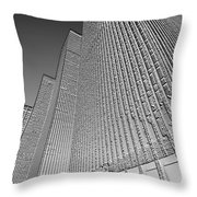 Building In Monochrome Throw Pillow