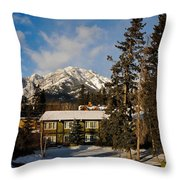 Building On A Cold Sunny Day  Throw Pillow