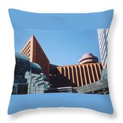 Building Shapes Throw Pillow