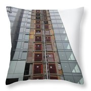 Building Up In The City Throw Pillow
