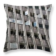 Building With Many Squares Throw Pillow