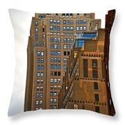 Buildings From The Taxi Throw Pillow